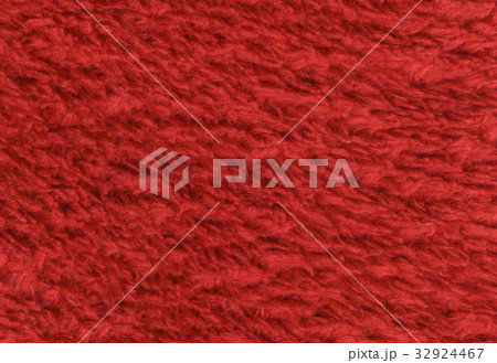 Red double sided terry towelling fabric texture 32924467
