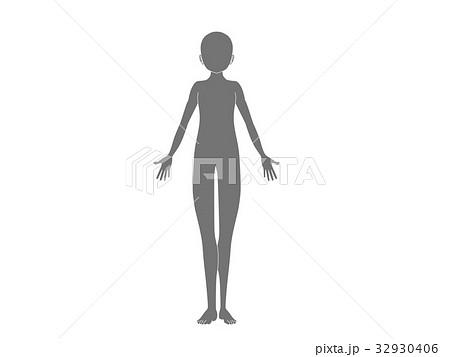 人体(灰色) 32930406