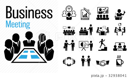 business meeting icon group work concept のイラスト素材 32938041