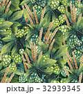 Watercolor hop and malt 32939345
