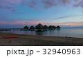 タヒチ ボラボラ島サンセット 水上バンガロー 32940963