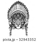 動物 刺青 ワイルドのイラスト 32943352