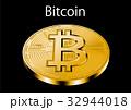 ビットコイン Bitcoin 暗号通貨のイラスト 32944018
