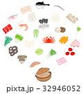 鍋 食材 セットのイラスト 32946052