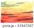 夕焼け 夕景 空のイラスト 32947287