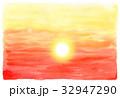 夕焼け 夕景 空のイラスト 32947290