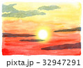 夕焼け 夕景 空のイラスト 32947291
