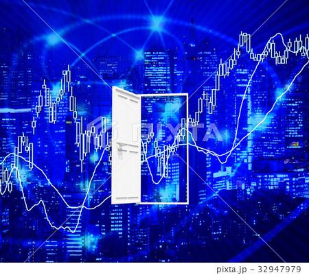 株式投資の株価ポイントのドア 32947979