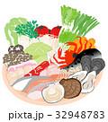 鍋 食材 セットのイラスト 32948783