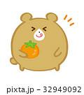秋 カキ クマのイラスト 32949092