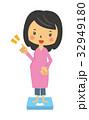 マタニティ 体重計【二頭身・シリーズ】 32949180