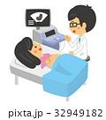 妊婦健診 エコー検査 妊婦のイラスト 32949182