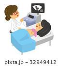 妊婦健診 妊婦 エコー検査のイラスト 32949412