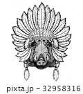 動物 野生 野生化のイラスト 32958316