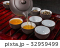中国茶セット Chinese tea set of beauty and health 32959499