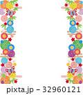 背景素材-雅な和柄1-siro(テクスチャ) 32960121