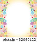 蝶 花 背景のイラスト 32960122