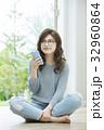 女性 ライフスタイル あぐらの写真 32960864