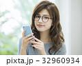 女性 ライフスタイル スマートフォンの写真 32960934