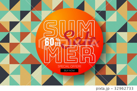 summer sale template banner vector backgroundのイラスト素材