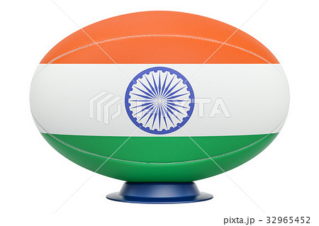 Rugby Ball with flag of India, 3D renderingのイラスト素材 [32965452] - PIXTA
