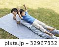 公園 挙手 手を挙げるの写真 32967332
