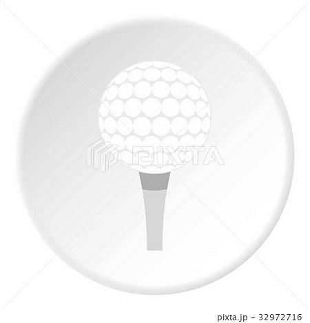 Golf ball with tee icon circleのイラスト素材 [32972716] - PIXTA