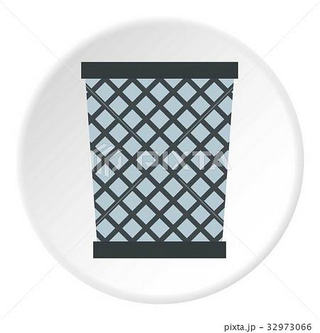 Wire metal bin icon circleのイラスト素材 [32973066] - PIXTA