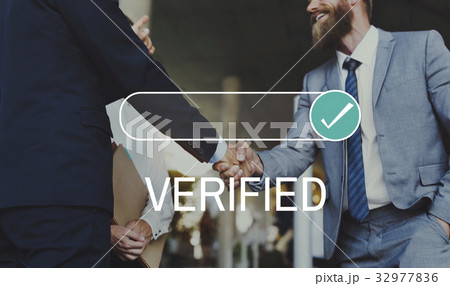 Verified Tasted Insurance Certificate Authenticatedの写真素材 [32977836] - PIXTA