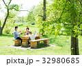 家族 ピクニック 屋外の写真 32980685