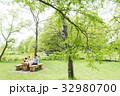 家族 ピクニック 屋外の写真 32980700