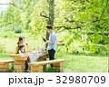 家族 ピクニック 屋外の写真 32980709