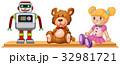 ロボット おもちゃ 人形のイラスト 32981721