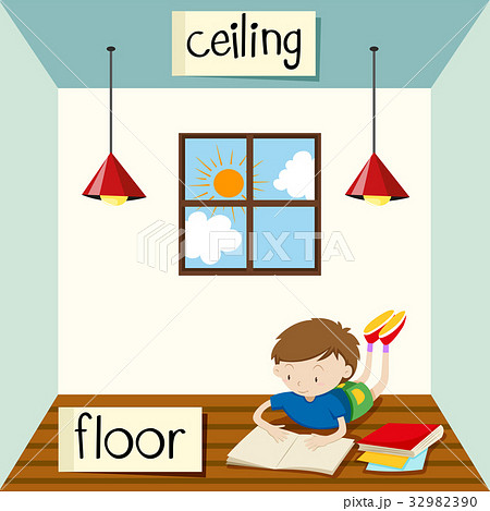 Opposite wordcard for ceiling and floor 32982390 for Opposite of floor
