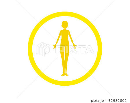 体の不調(黄色・言葉なし) 32982802
