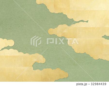 和を感じる背景 金 雲 和紙 32984439