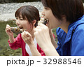女性 レジャー 川の写真 32988546