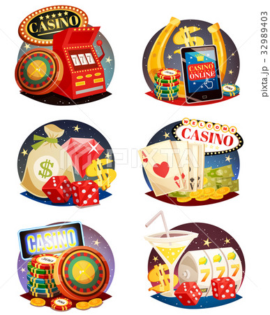 Casino Decorative Compositions Set 32989403