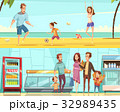 Family Horizontal Cartoon Banners 32989435