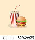 食 料理 食べ物のイラスト 32989925