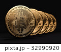 ビットコイン 金 黄金のイラスト 32990920