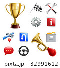 Racing Game Realistic Icon Set 32991612