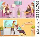 椅子 チェア いすのイラスト 32991709