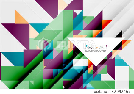 Triangle pattern design backgroundのイラスト素材 [32992467] - PIXTA