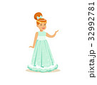 Beautifull redhead little girl princess in a light 32992781