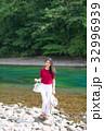 女性 旅行 支笏湖の写真 32996939