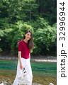 女性 旅行 支笏湖の写真 32996944
