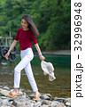 女性 旅行 支笏湖の写真 32996948