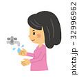 手洗い【二頭身・シリーズ】 32996962