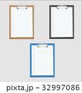 クリップボード 紙ばさみ 用箋挟のイラスト 32997086